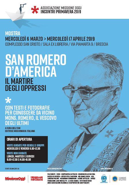 San Romero D'America: mostra